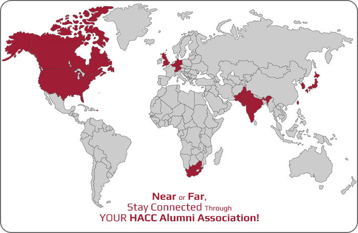 HACC alumni worldwide